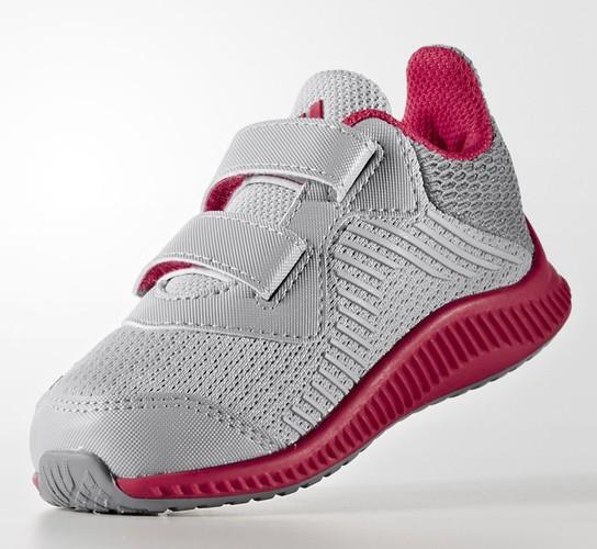 Adidas FortaRun Velcro (Grey/Pink) - Tod