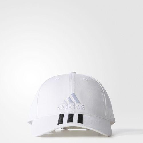 Adidas 6p 3S Cotton Cap (White/Black)