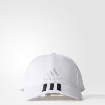 Adidas 6p 3S Cotton Cap (White/Black)