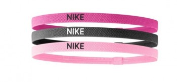 Nike Elastic Hairbands 3 Pack Spark Pink