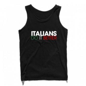 ITALIANS DO IT BETTER MEN SINGLET