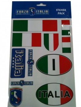 ITALY STICKER PACK A5 SIZE 11 STICKERS