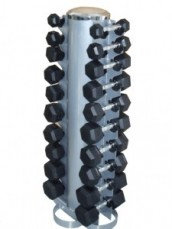Two-Sided Vertical Dumbbell Rack Incl. 1