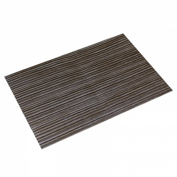 Woven PVC Placemat Silver and Bronze