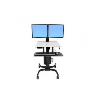 ERGOTRON Workfit-C Sit-Stand Dual LCD Bl