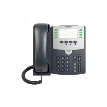 CISCO 8 Line IP Phone With PoE and PC Po