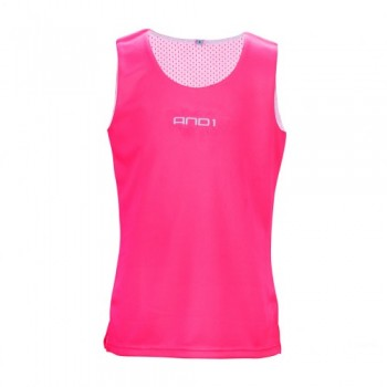 AND1 JUNIOR REVERSIBLE SINGLET - PINK/WH
