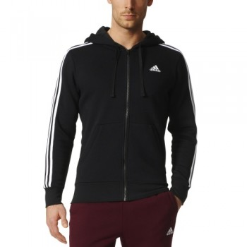 ADIDAS MENS ESSENTIALS 3 STRIPES FULL-ZI