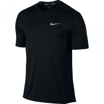 NIKE MEN'S DRY MILER RUNNING TOP - BLACK