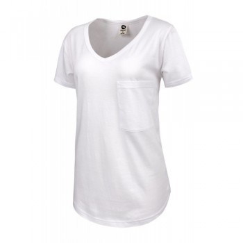 RUNNING BARE WOMEN'S V NECK LOUNGE TEE -