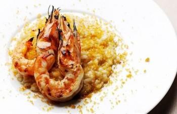 Crab Risotto & Prawns