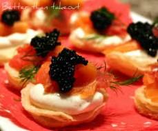 Creme Fraiche & Salmon Caviar