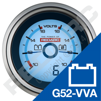 DUAL VOLTAGE 52MM GAUGE WITH OPTIONAL