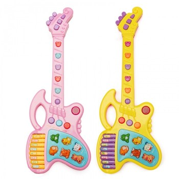 TOY GUITAR FOR CHILDREN - PINK - YELLOW