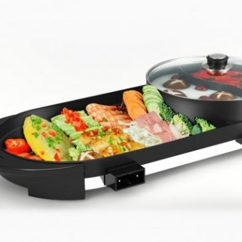 Electric BBQ Grill Plate Stone Pan With