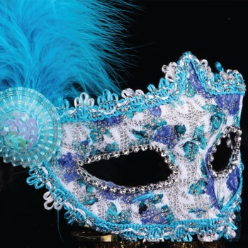 Colorful Lace Metal Masquerade Mask With