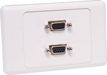 Dual VGA Wallplate Dual Cover - Fly Lead