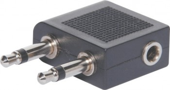 2 x 3.5mm Mono Plug to 3.5mm Stereo Soc