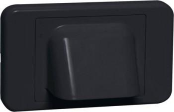 Black Shovel Nose Wallplate