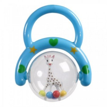 SOPHIE HAND RATTLE (PURPLE,GREEN,RED )