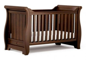 BOORI SLEIGH COT BED (ENGLISH OAK,WHITE)