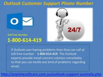 Outlook Customer Support Phone Number 1-