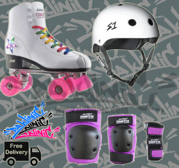 CRAZY SKATE DISCO ROLLERSKATE PACKAGE