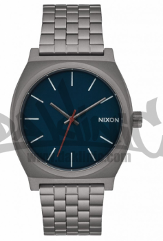 NIXON TIME TELLER GUNMETAL/DARK BLUE