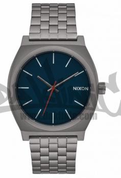 NIXON TIME TELLER GUNMETAL/DARK BLUE