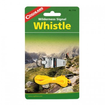 Coghlans Brass Whistle Silver