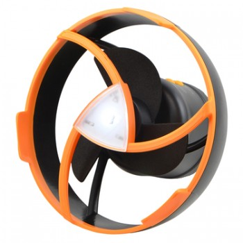 Dune Airstream Fan Black & Orange