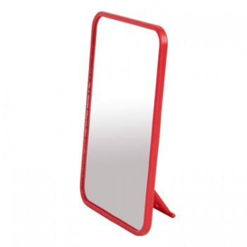 Kookaburra Camping Mirror With Stand Red