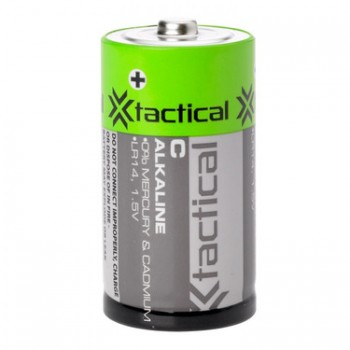 Tactical Alkaline Batteries 1.5V C 2 Pac