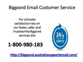 Bigpond Email Customer Service 1-800-980-183 For Various Support