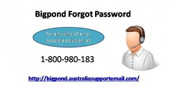 Forgot Bigpond Password? Grab Simple Way To Regain 1-800-980-183