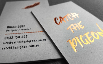 Catch the Pigeon business cards online
