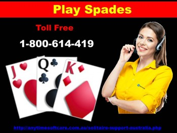 Play Spades  | Call 1-800-614-419