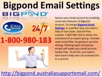 Change Bigpond Email Settings 1800980183