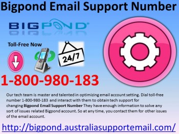 Bigpond Email Support Number 1800980183