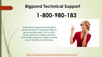 Technical Support Service Via Simple Call Bigpond 1-800-980-183