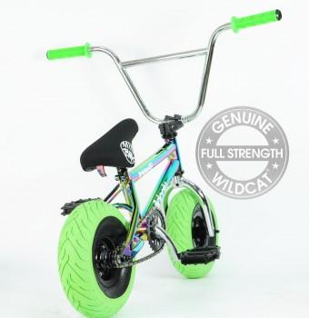 GREEN OIL SLICK WILDCAT MINI BMX 1 PIECE
