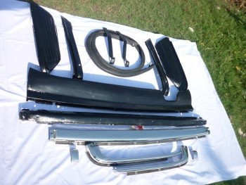 Mercedes W107 Bumper in Stainless Steel