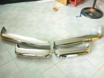 Mercedes W113 Bumper in stainless Steel