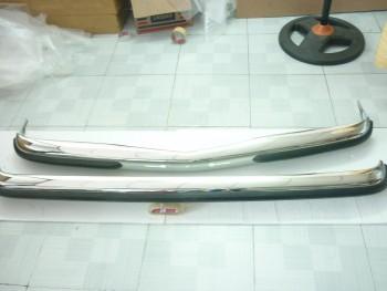 Mercedes W123 Sedan Bumper in stainless steel