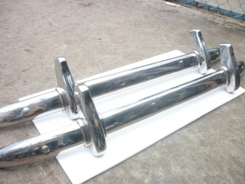 MG TD Bumper in stainless Steel