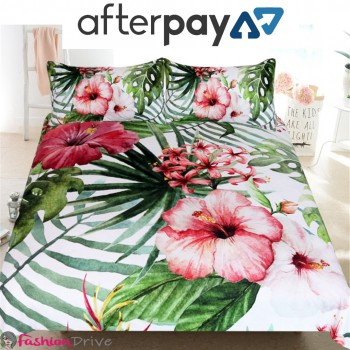 Buy Flowers Tropical Plants Bed Sheet