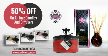 50% Off On All Jazz Candles & Diffusers
