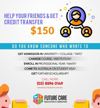 Help Your Friends & Get Credit Transfer $150 In Australia Victoria