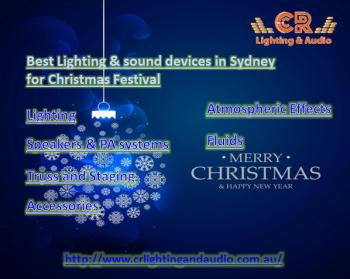 Best Lighting & sound devices in Sydney