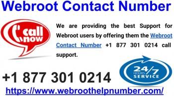 Webroot Contact Number 877-301-0214